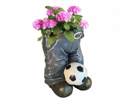 Denim Jean Planter With Ball